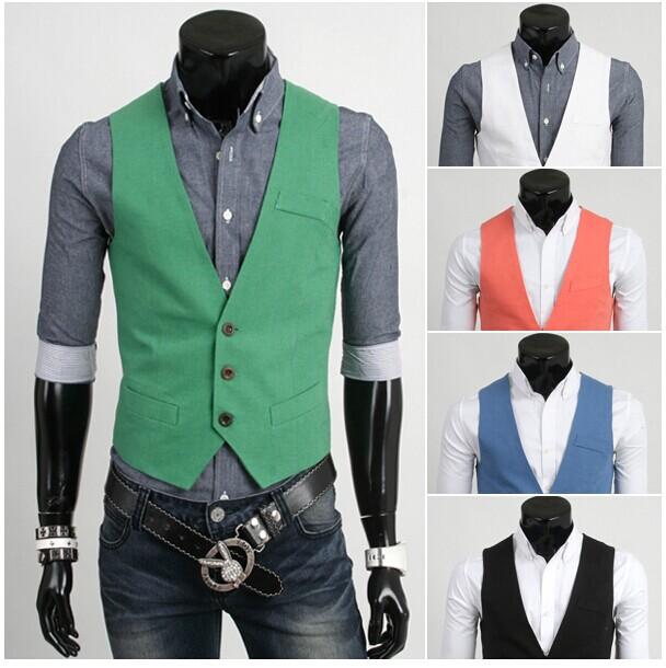 Waistcoat Men Slim Dress Mens Sleeveless Jacket Vest Men Solid Slim Suit With Vest For Groom Fashion Cool Man Brand(China (Mainland))