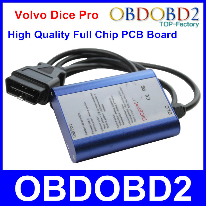 Hot Sale Blue Volvo Dice Pro 2014D Auto Diagnostic Interface Volvo Vida Dice Support Volvo Protocols Firmware Update Self Test(China (Mainland))