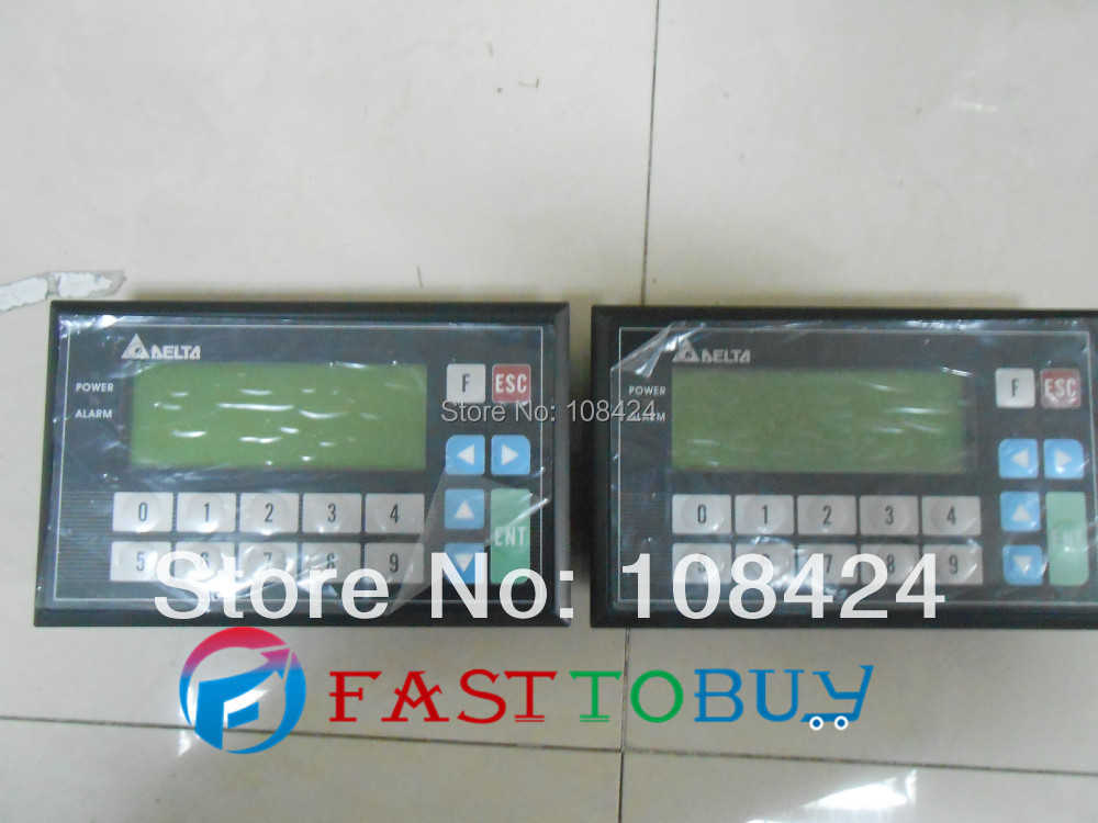 """Фотография TP04G-BL-CU Delta Text Panel 4.1"""" 192*64 STN-LCD Monochromatic USB Host 9keys with Free Cable&Software New"""