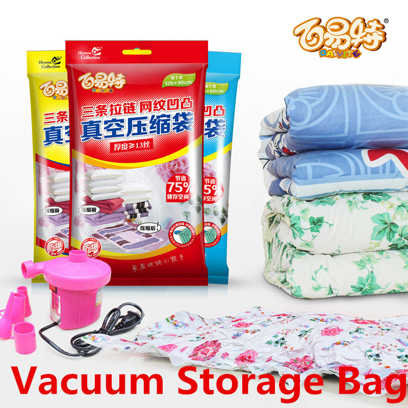 Multi-size thicker strengthen Vacuum Storage Bag Compressed Bag Space saved seal retail package(China (Mainland))