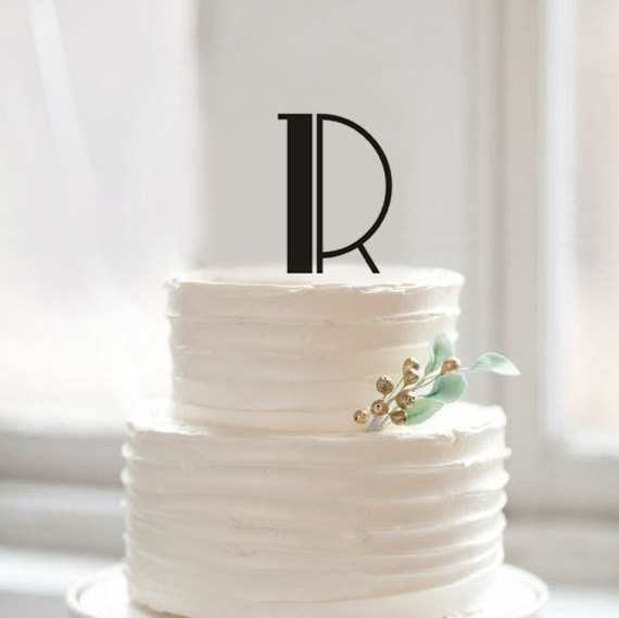 Letter R cake toppers,unique wedding cake topper,rustic ...