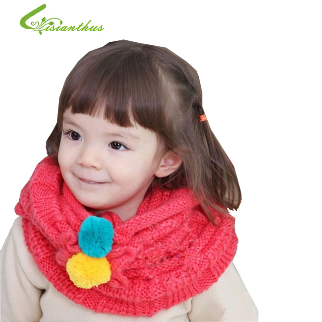 10pcs/lot Free Shipping New Style Baby Childen Knitting Scarves Fashion Autumn Winter Warm Soft Girls Scarf 7 Colors Wholesale