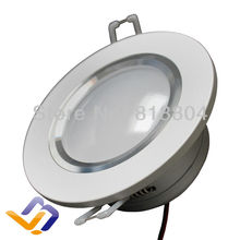 Free shipping!!!  10pcs/lot   NEW Arrival LED high power Recessed Ceiling Downlight COB light 3W  Silver aluminum+powersupply(China (Mainland))