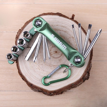 Caliente venta 12 1 para bicicleta Multi Repair Tool Kit Hex Spoke ciclo destornillador herramienta Socket set envío gratis