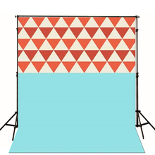 Photography Backdrops Blue Wall Children Photo Background Inverted Triangle Backgrounds For Photo Studio