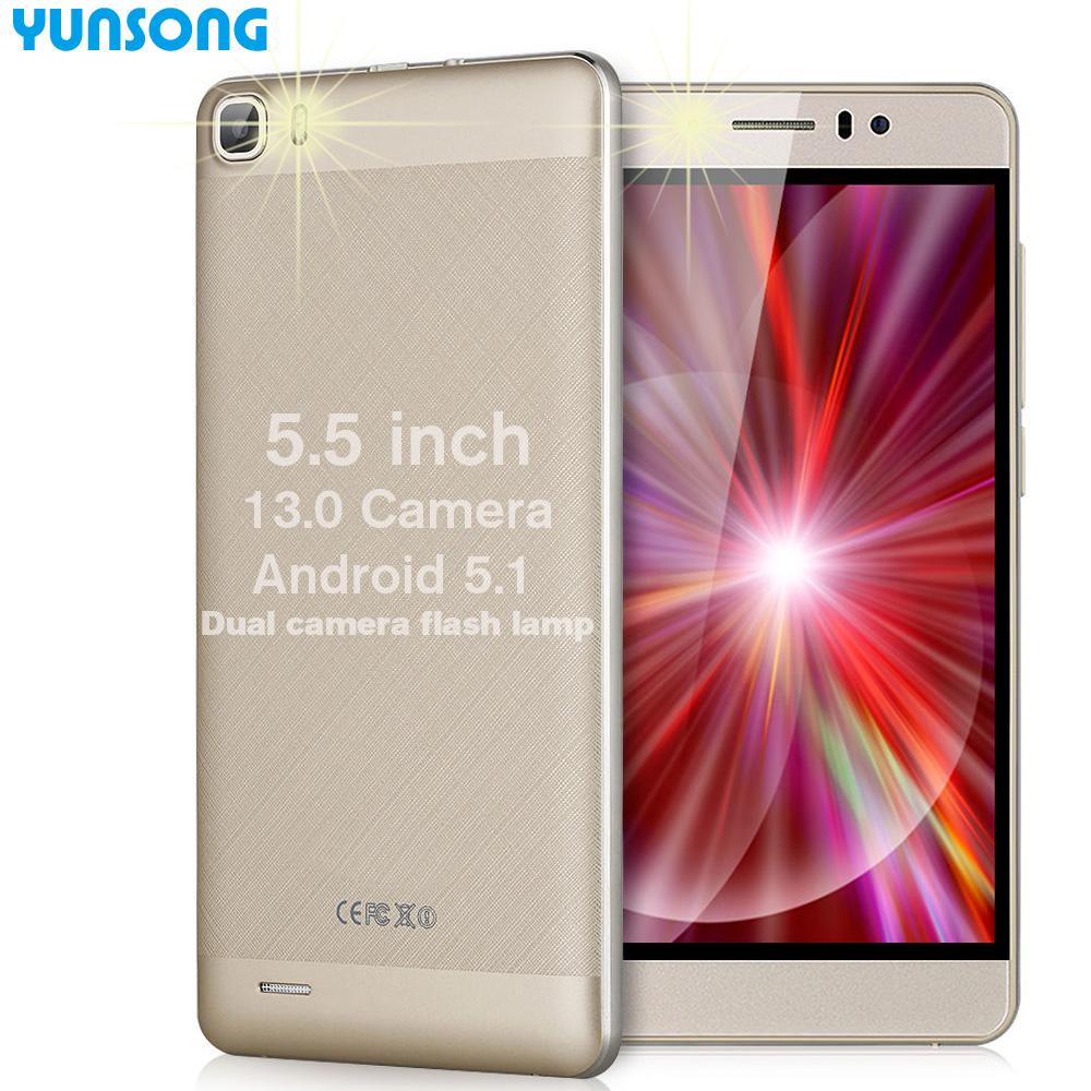Original brand phoneYS7pro 13MP camera 5.5 inch Smartphone MTK6580 Quad Core Dual Sim Android5.1 Cell Phone Unlock Mobile Phone(China (Mainland))