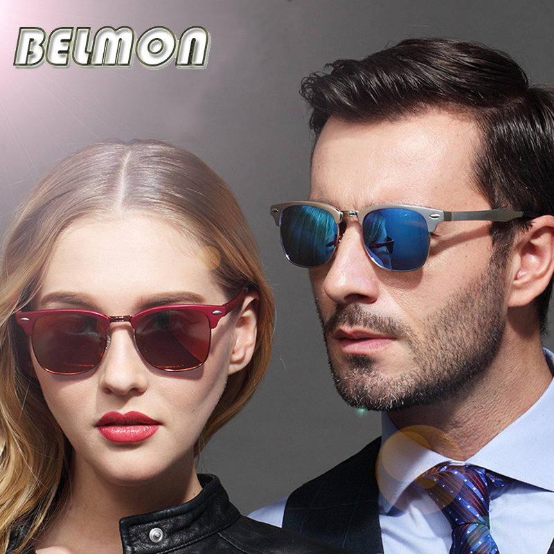 2016 Fashion Polarized Sunglasses Men Women Brand Designer AL-MG Clubmaster Sun Glasses For Male Ladies Couple Oculos RS145(China (Mainland))
