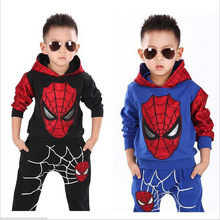 Spiderman Children Boys Sport Suit 2-6 Years Kids Clothing Set Spider Man Baby Boys Clothes Set Spring Summer Tracksuits For Boy(China (Mainland))