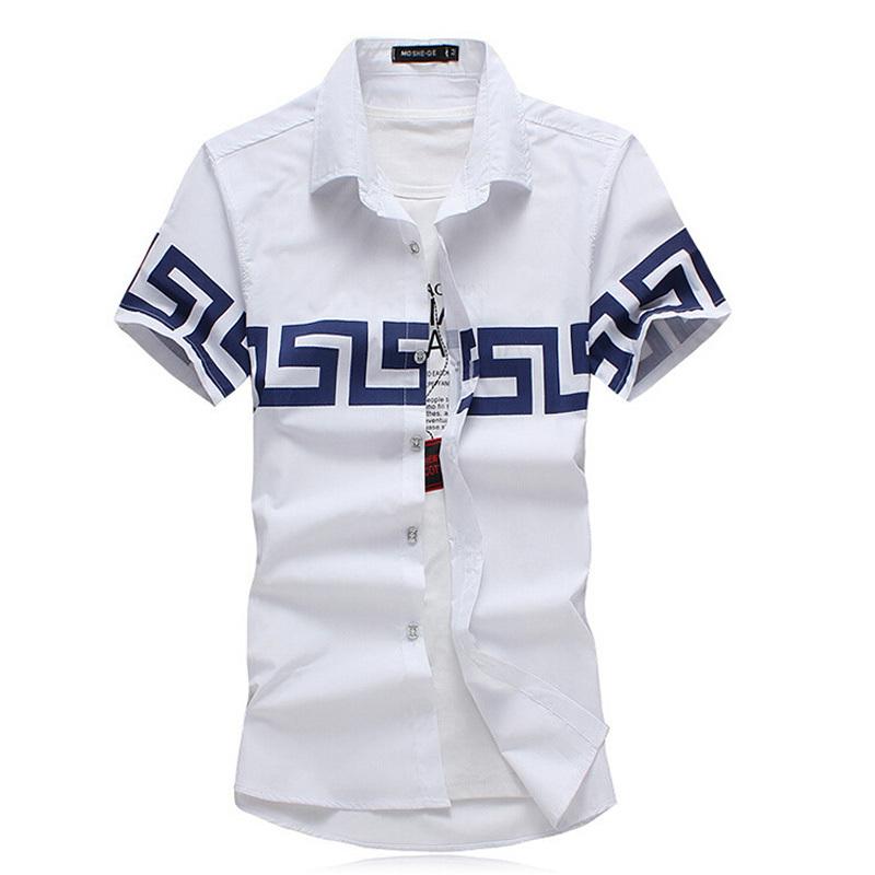 M-4XL 5XL 6XL 2015 summer mens shirt short sleeve shirt 4 colors roupas camisa masculina dress shirts for men high quality(China (Mainland))