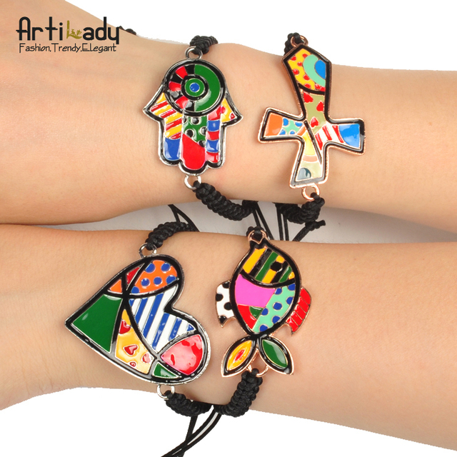 Artilady new patten stacked bracelet friendship charm wrap bracelet fashion jewelry for women 2014