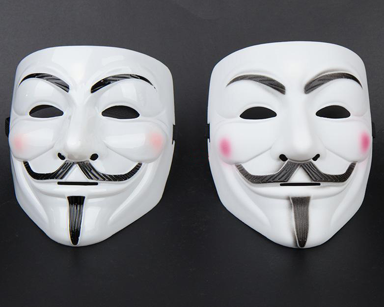 V for Vendetta Mask Guy Fawkes Halloween Party Face Mask Costume Full face mask Mask Free Shipping fedexIE 50pcs/lot(China (Mainland))