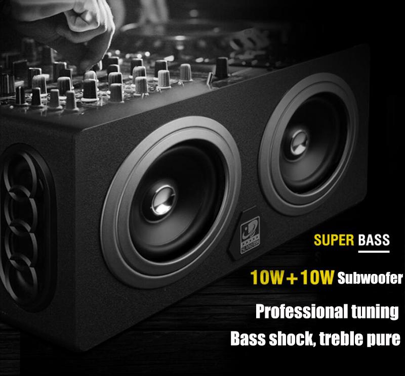 speaker wood USB microphone FM 5