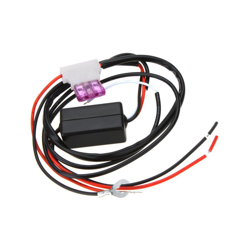 Car LED DRL Relay Daytime Running Light Relay Harness Auto Car Controller On Off Switch Parking