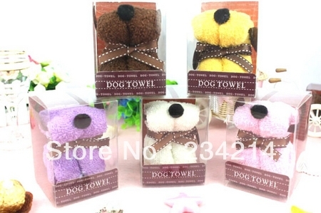 Sale free shipping 2013 creative wedding gift box packaging puppy towels, the elegant decoration