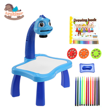 Children Kids Multifunctional Educationally Drawing Toys Sets Painting Toy projector Learning Drawing Desk 12 Pens 24 Patterns(China (Mainland))