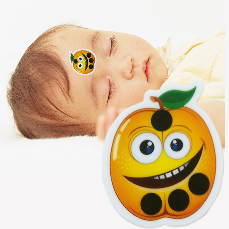 1pcs Forehead Strip Thermometer Cartoon Apple Fashion Kids Infant Safety Baby Temperature Fever Body Test(China (Mainland))