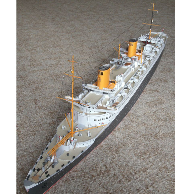 Free shipment New 2015 diy papercraft paper models boat 1:250 scale Germany Bremen cruise liner ship 3d puzzle creative gift(China (Mainland))