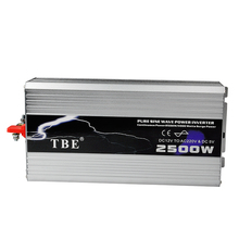 2500W 2500WATT Car 12V DC In to 220V AC Out Pure Sine Wave 2 5KW Power