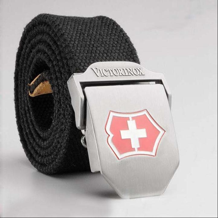 2016 fashion canvas belt luxury belt men famous brand belt outdoor sport Military jeans belts black stripes army green belt 120(China (Mainland))