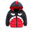 2016 80 White duck down Cartoon monster hooded down winter jacket for girls children boys coat
