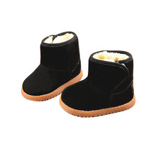 New Thicken Warm Plush Child Boots Shoes For Baby Toddler Shoes Winter Boys Girls Snow Boots Shoe Soft Suede Kids Ankle Bootie(China (Mainland))