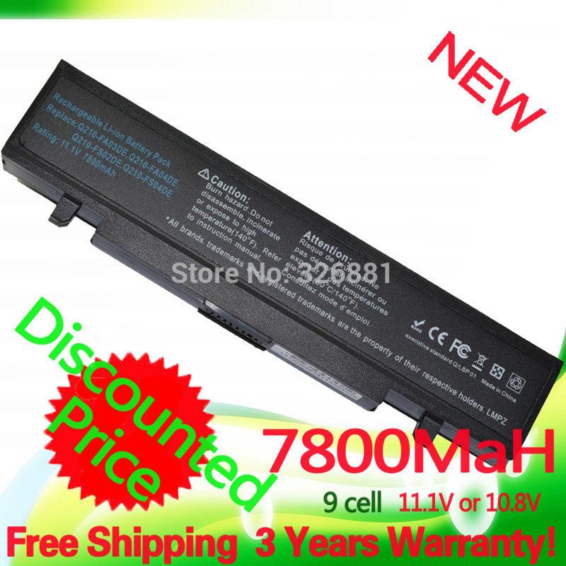 7800mAh  9 Cell Laptop battery for Samsung AA-PB9NC5BAA-PB9NC6BAA-PB9NC6W  AA-PB9NS6B R518 R519 R520 R522 R540 R580 R610<br><br>Aliexpress