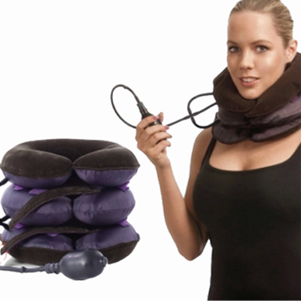 Neck Pillow Massager Relaxation Relieve Fatigue Tension Neck Massager Inflatable Cervical Traction Health Relaxation Massager(China (Mainland))