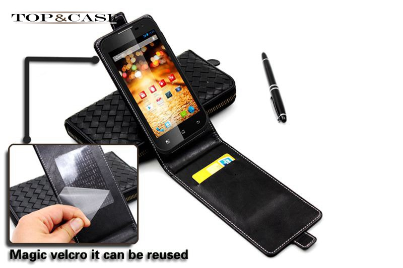 Luxury Flip Cover Leather Case For MTC Smart Sprint Phone Case Shell With Stand and ID Card Holder(China (Mainland))