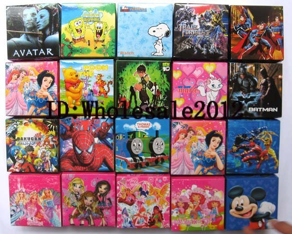 Free Shipping 50pcs mixed Cartoon watches with boxes Wholesale new