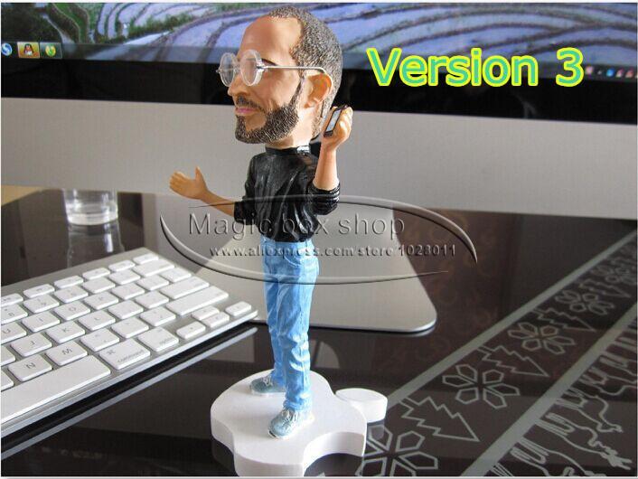 18cm Steve Jobs figure resin crafts Artificial Sculpture Souvenir w/glasses version 3 p1(China (Mainland))