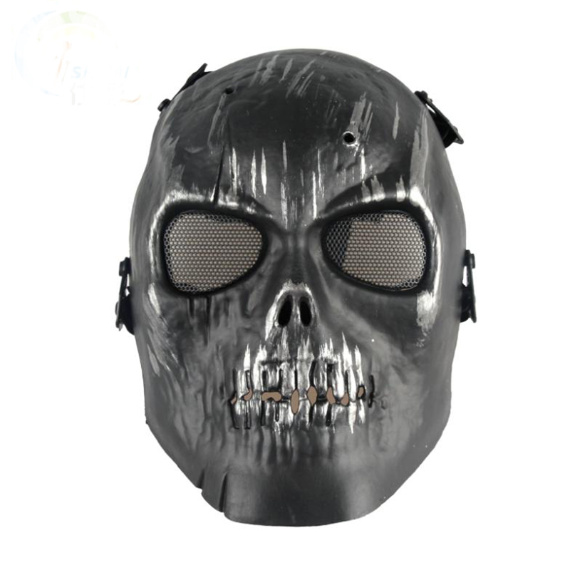 Military Fans CS Full-face Masks Battlefield Heroes Chiefs Mask Skull Mask Paintball Cosplay Game Survival Games Protect Masks(China (Mainland))