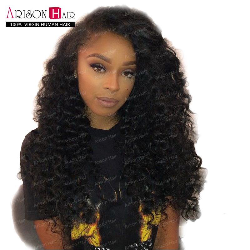 Фотография Best Quality Brazillian Body Wave Full Lace Human Hair Wigs, Glueless Full Lace Wigs Lace Front Human Hair Wigs For Black Women