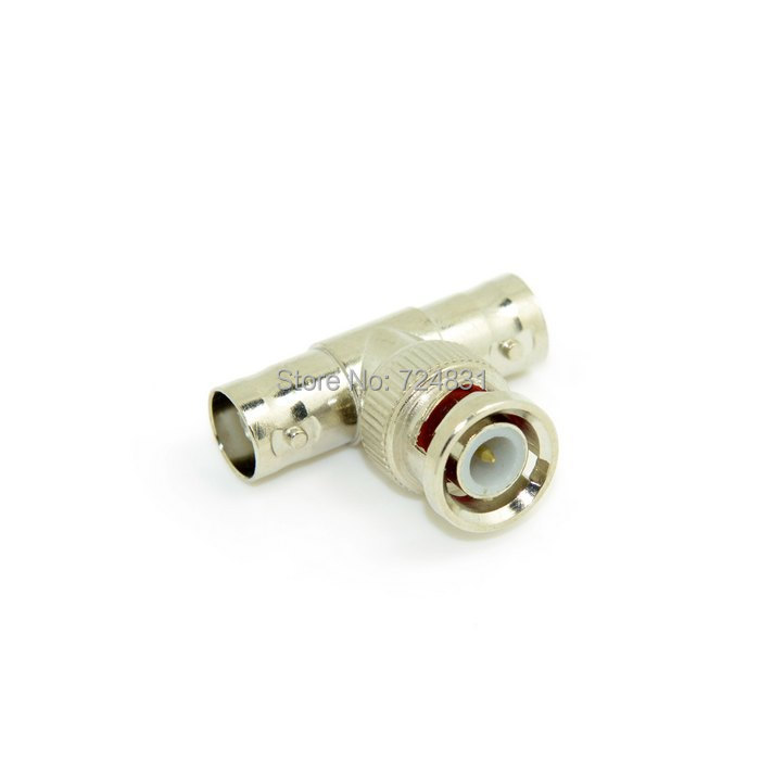 CY BNC Female to Dual 2 Female F Jack Triple T Type Coaxial Adapter Connector Splitter 10pcs Lot(China (Mainland))
