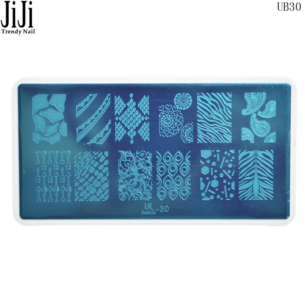 6*12cm Nail Art Stamping Stamp Template Image Plates Cupid/Sweet Heart Designs Nails Polish Make up Tools Jiji Trendy Nail UB30(China (Mainland))