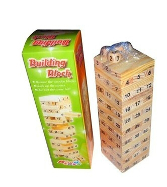 Baby Tumbling Tower Toys Jenga Board Team Game Toy Wood Building Blocks Kids Family Camping bar game Free Shipping(China (Mainland))