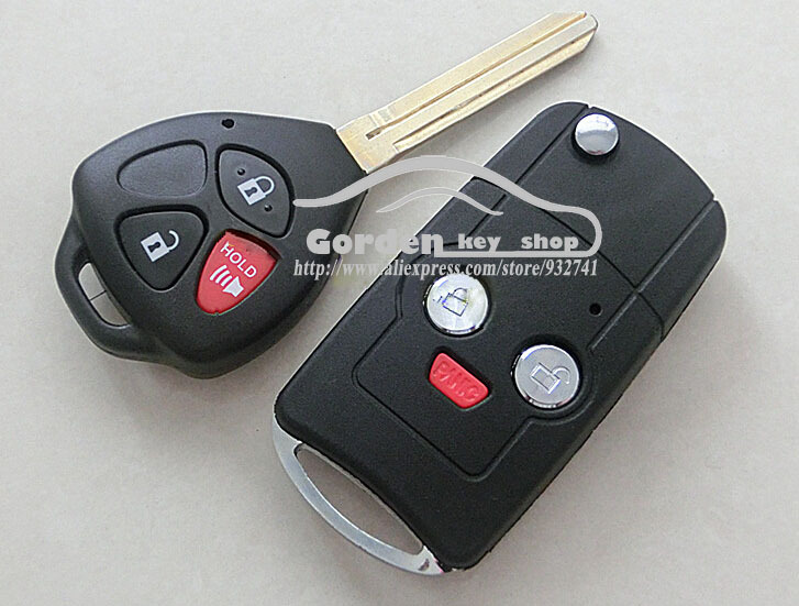 Modified Flip Remote Key Case Shell 2+1 Buttons For Toyota Camry 3 Buttons(China (Mainland))