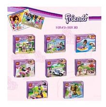 Hot Sale NEW 8pcs/lot Bela Friends Building Blocks 8pcs Girls Friends Bricks educational toys Replica not Compatible with Lego(China (Mainland))
