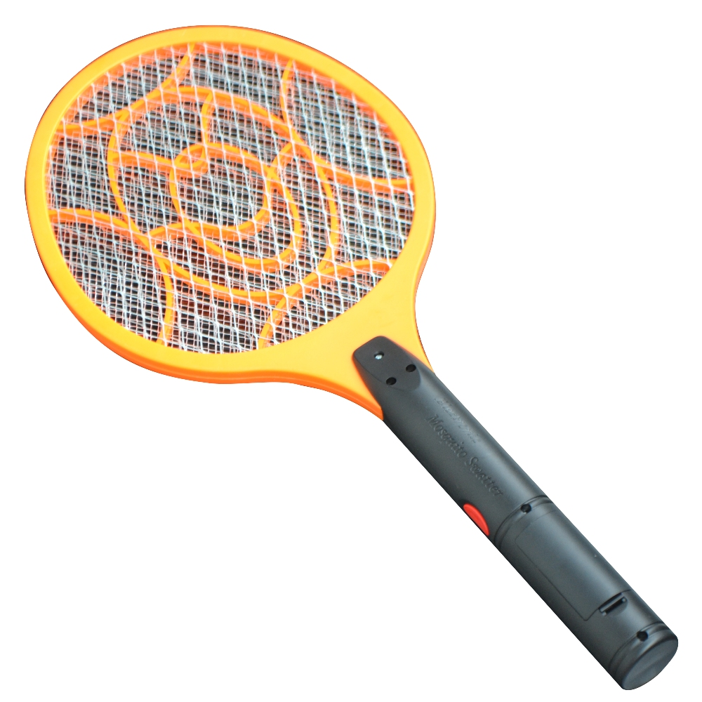 3 Layers Net Dry Cell Hand Racket Electric Swatter Home Garden Pest Control Insect Bug Bat Wasp Zapper Fly Mosquito Killer(China (Mainland))