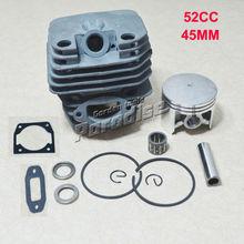 45 MM 52CC 5200 chino gasolina de la motosierra Kit del pistón del cilindro con silenciador junta junta del cilindro y rodamiento de agujas