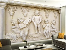 Buy Photo wallpaper custom wallpaper European angel backdrop mural 3d wall murals wallpaper Home Decoration for $15.30 in AliExpress store