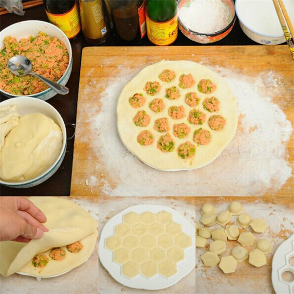 Dumpling Mold Kitchen Tool with 19 Holes
