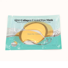 Eye Mask 10 pairs/lot Q10 Collagen Bionic Crystal Eye Mask Powerful Reduces Dark Circles&Puffiness Collagen Face Mask(China (Mainland))