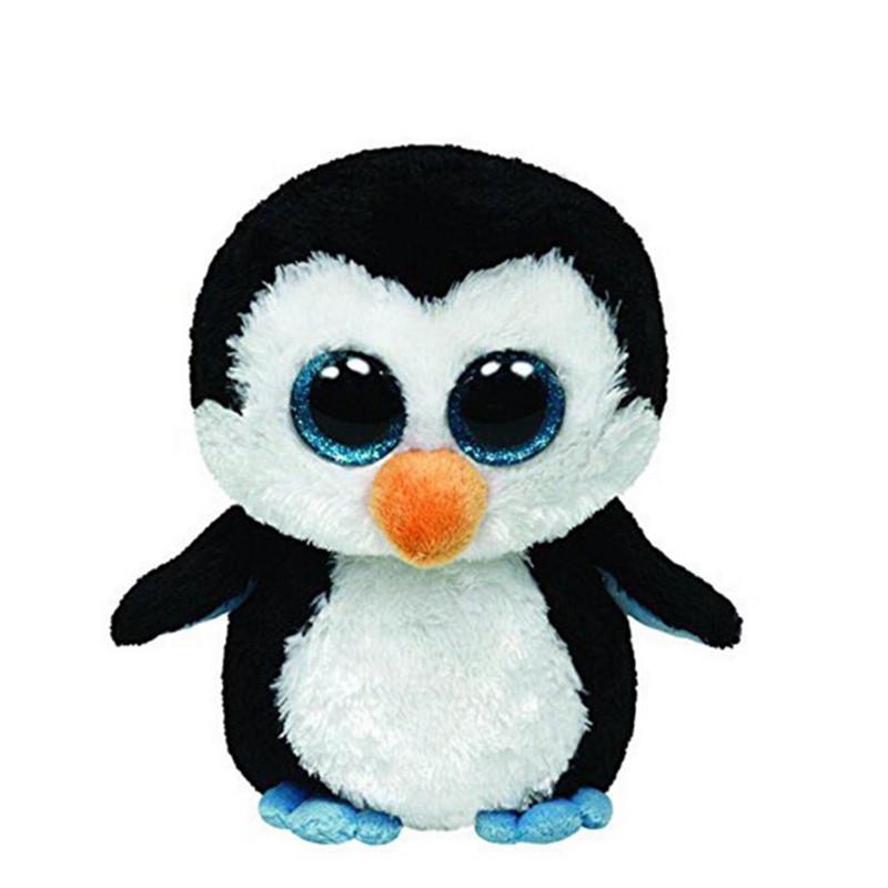 Ty Beanie Boos Original Big Eyes Plush Toy Doll Child Birthday Penguin TY Baby 16 Cm Dog Panda Unicorn Bear L47 - Space Toys store