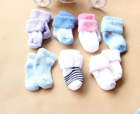 12pair/lot New 2016 Lovely Winter Warm Baby Socks for Babies Boy Girl Kids Accessories New Born Towels Cotton Sock Bebe(China (Mainland))