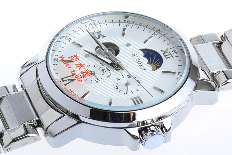 2016 Новое Прибытие 100 м АТМ Водонепроницаемый Мужчины Люксовый Бренд BIAOKA Бизнес Смотреть Механические Мужские Стали Наручные Часы Повседневная Часы