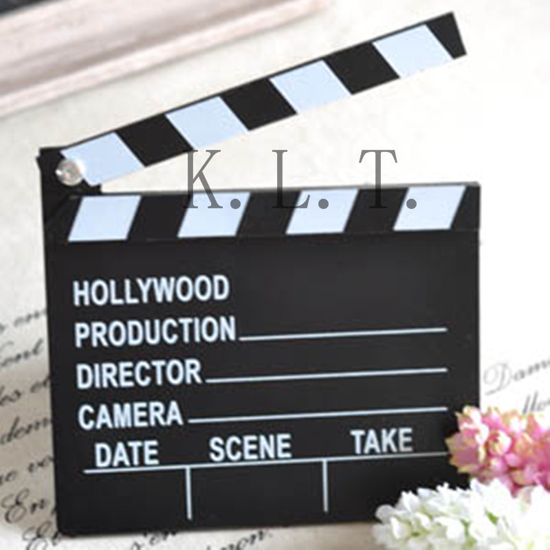 1PCS Classical Wooden Decorative Director Video Scene Clapperboard TV Movie Clapper Board Film Slate Cut Prop Party Supplies(China (Mainland))