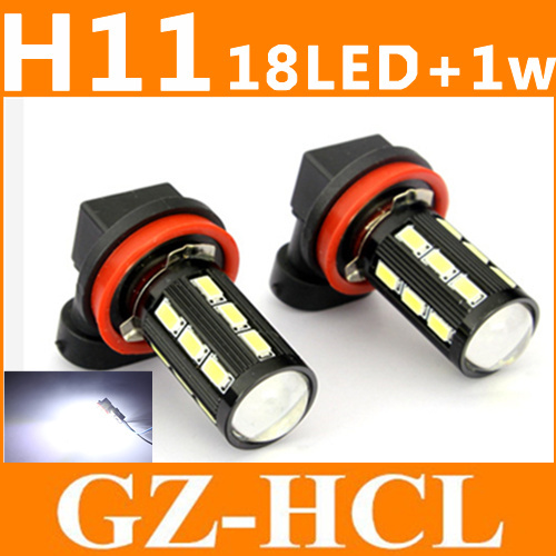 High Power H11 H8 High Power 18-SMD 5730+ 1WLed Fog Lights Bulbs Super Bright White Car Signal Reverse Light Bulb(China (Mainland))