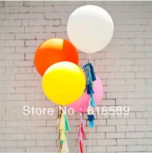 Colorful World 30 Pcs/Lot 18 Inches Balloon Ball Helium Inflable Big Latex Balloons For a Birthday Party Decoration(China (Mainland))