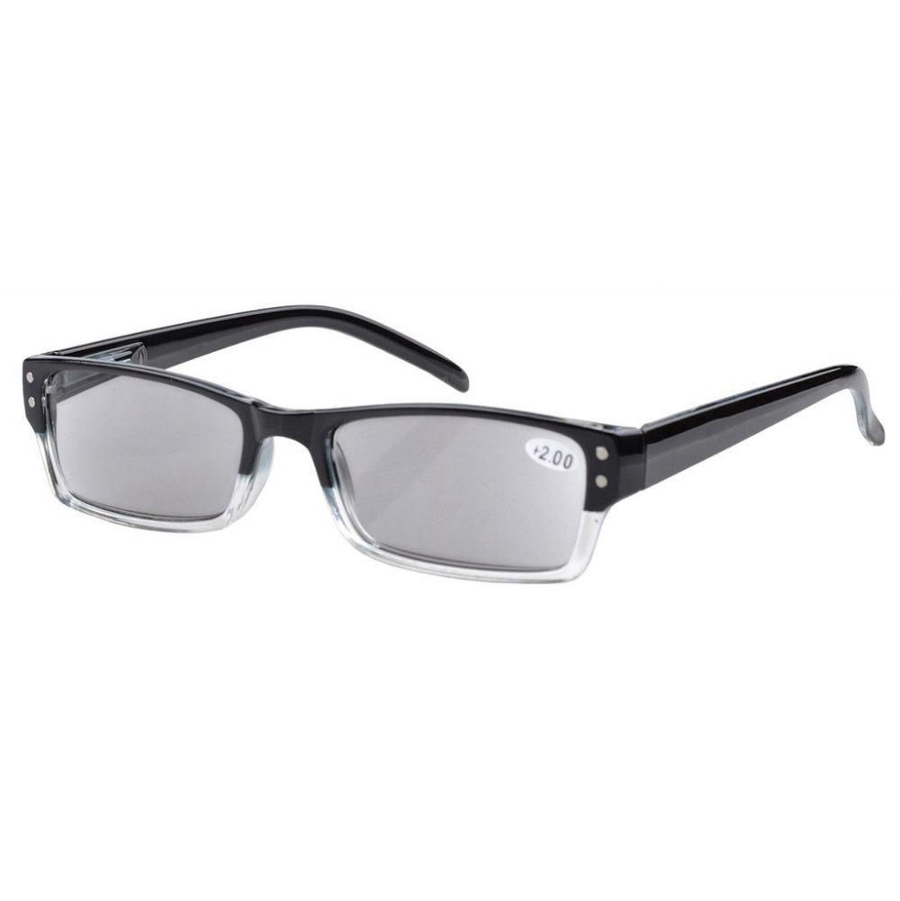 R012 Eyekepper Spring Hinges Reading Glasses Men Women With Case Grey Lens Sun Readers +1/1.25/1.5/1.75/2/2.25/2.5/2.75/3/3.5/4(China (Mainland))