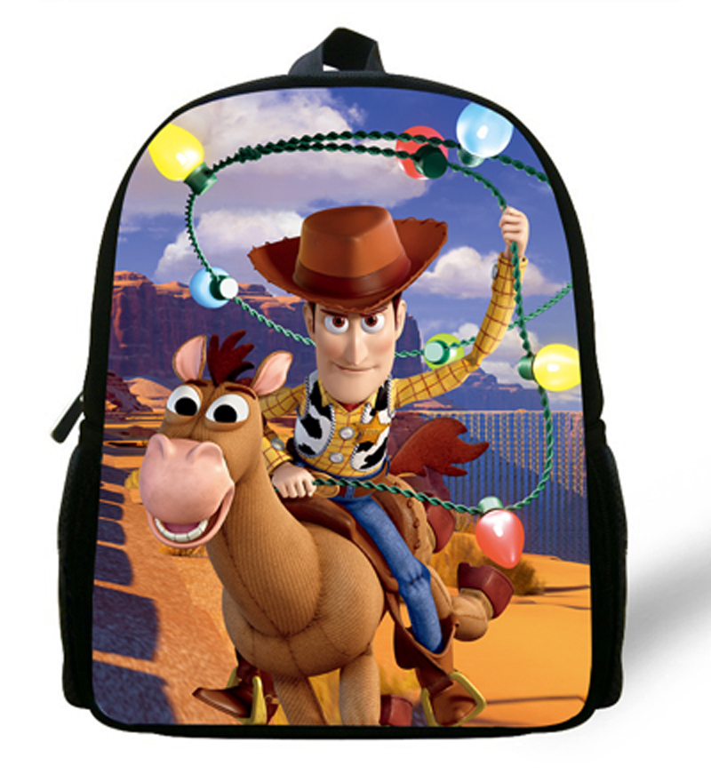 12inch Children backpack Cartoon Mochila Toy Story Woody Backpack Kids School Bags For Boys Aged 1-6 Mochilas Escolares Infantis(China (Mainland))